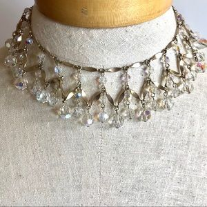 Cleopatra Crystal Collar Statement Necklace Set